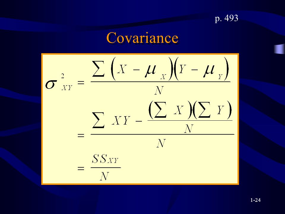 1-24 Covariance p. 493