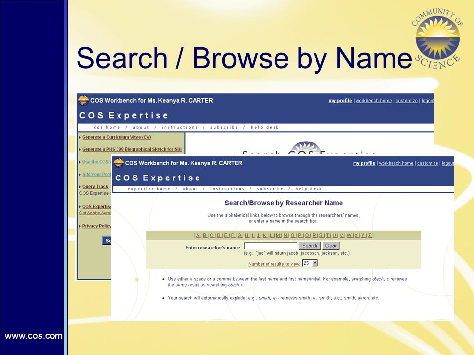 Search / Browse by Name