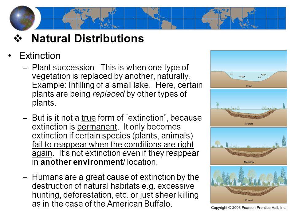 Extinction –Plant succession.