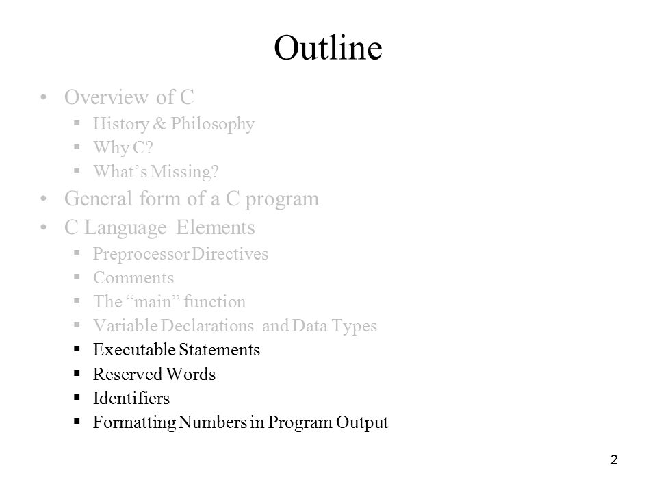 1 ICS103 Programming in C Lecture 3: Introduction to C (2) - ppt ...