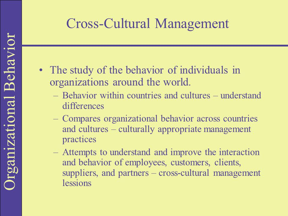 organizational behavior unit 2 discussion