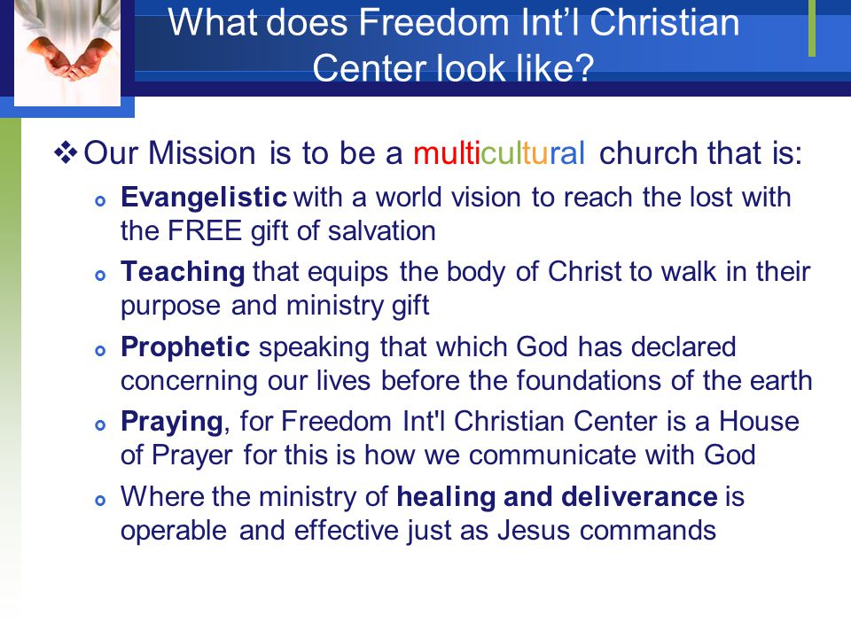 What does Freedom Int'l Christian Center look like.
