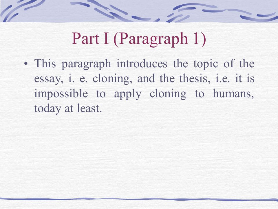 5 paragraph essay on cloning