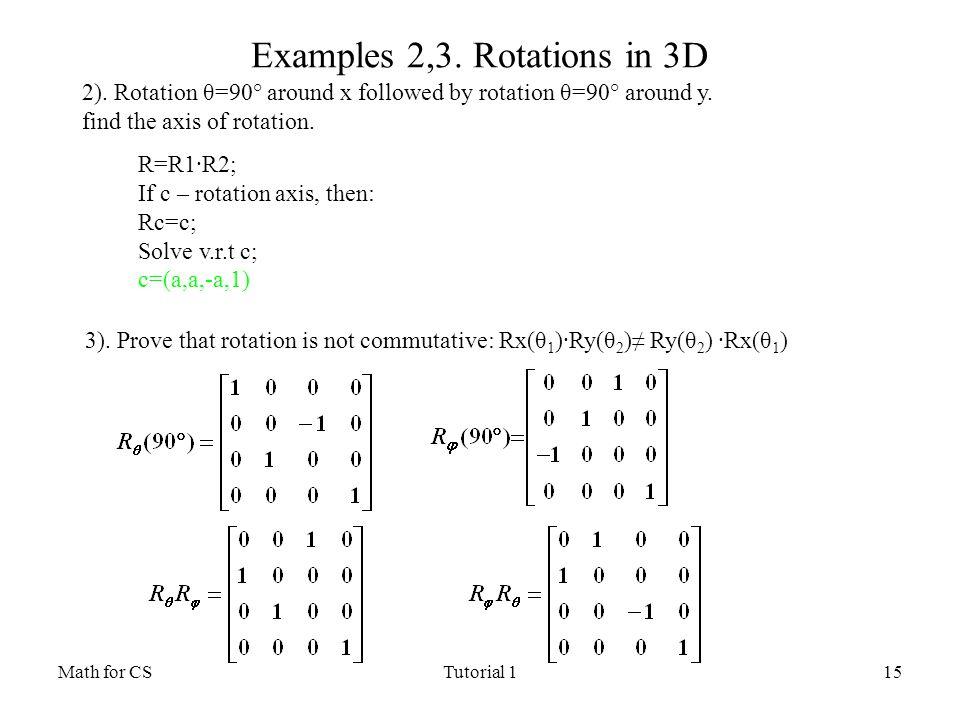 Rotation Math Examples