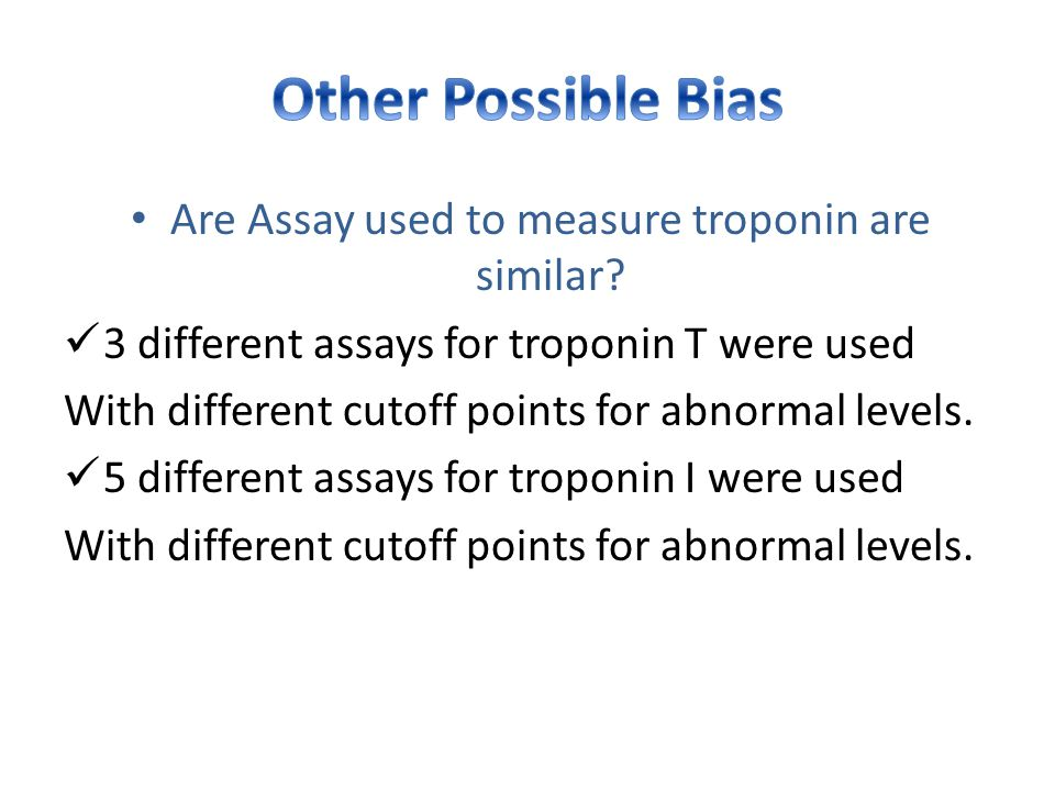 Are Assay used to measure troponin are similar.