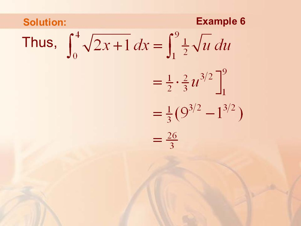 Thus, Example 6 Solution: