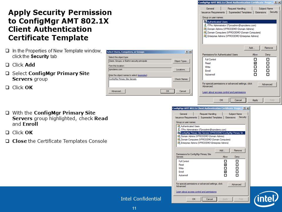 Intel confidential 1 configure pki web server certificates for 11 intel confidential yelopaper Images