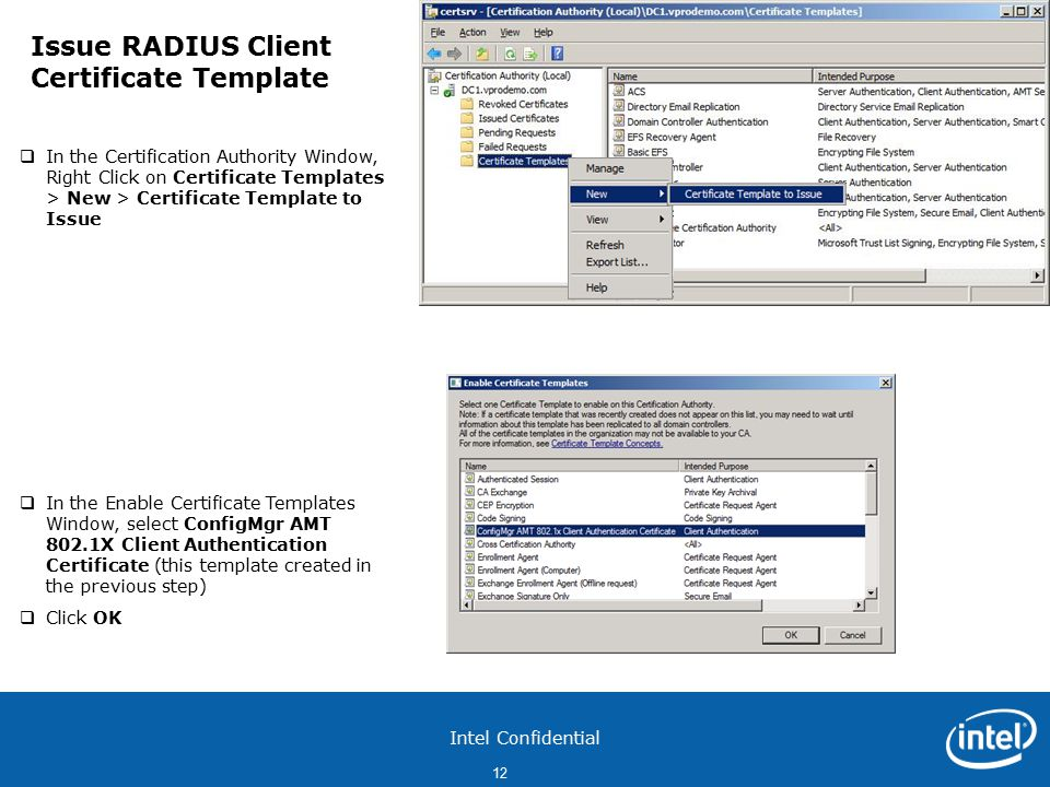 Intel confidential 1 configure pki web server certificates for each 12 intel confidential yelopaper Gallery
