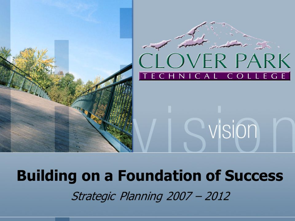 Building on a Foundation of Success Strategic Planning 2007 – 2012