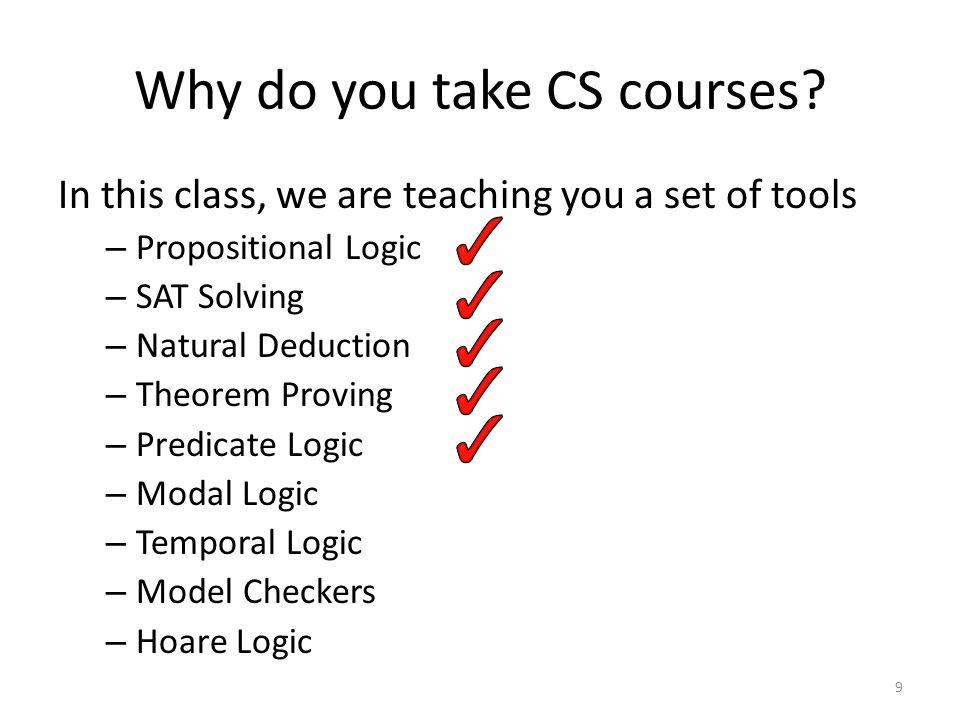 Why do you take CS courses.