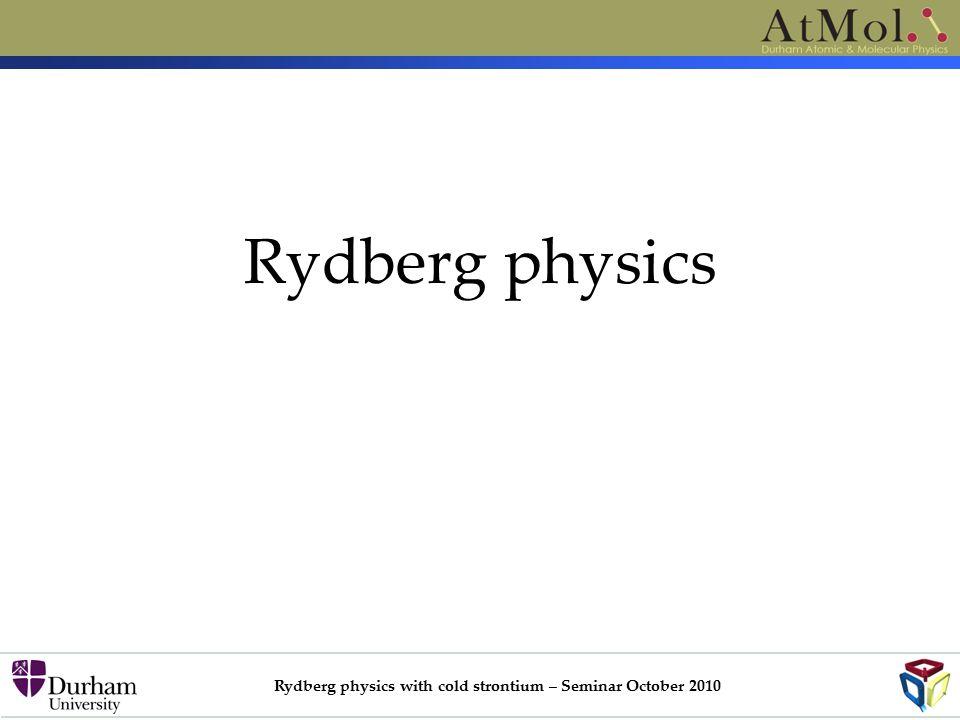 Rydberg physics