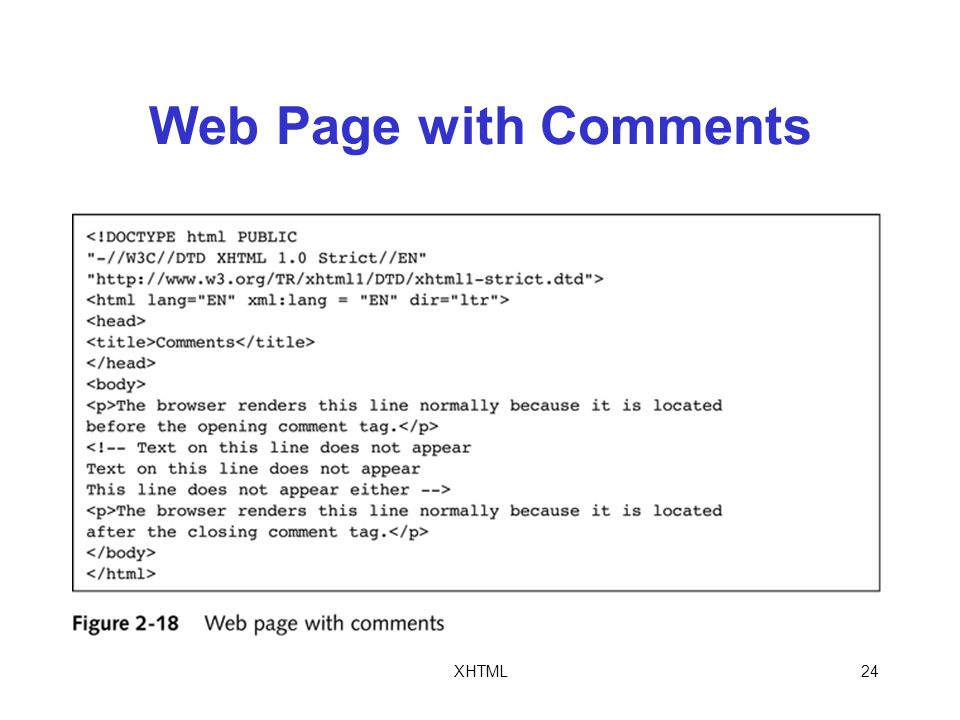 XHTML24 Web Page with Comments