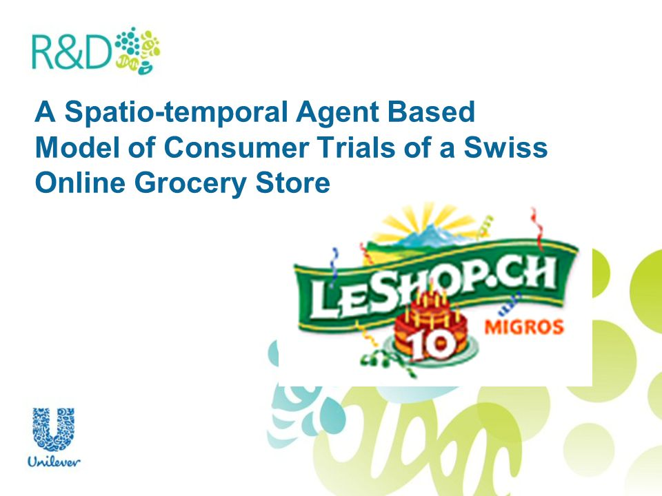 A Spatio-temporal Agent Based Model of Consumer Trials of a Swiss Online Grocery Store