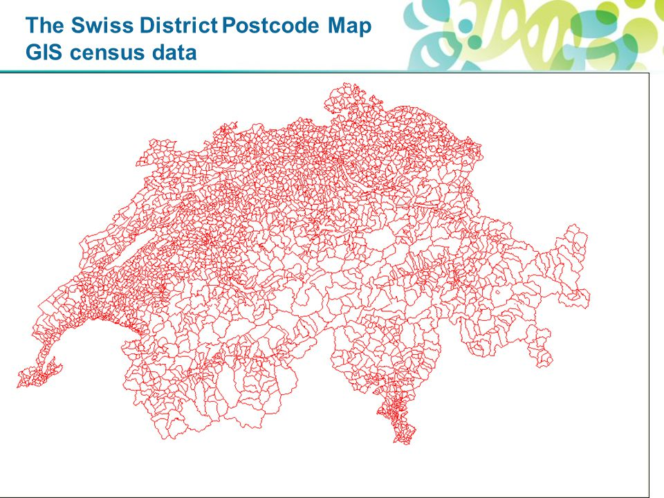 The Swiss District Postcode Map GIS census data