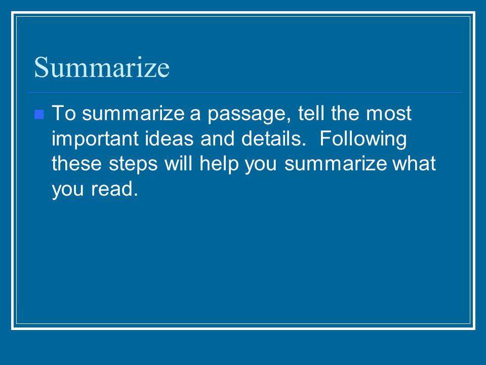 Need help sumamrizing a theme. ?