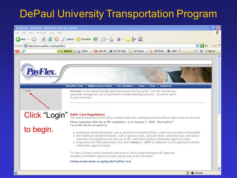 Depaul University Transportation Program Election Changes Ppt
