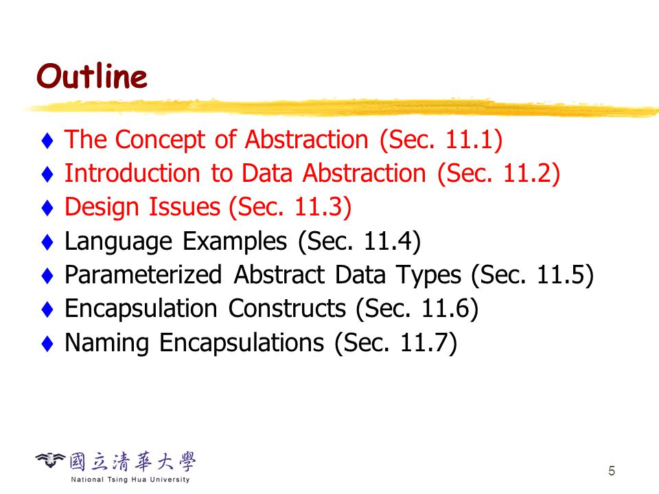 Cs2403 Programming Languages Abstract Data Types And Encapsulation