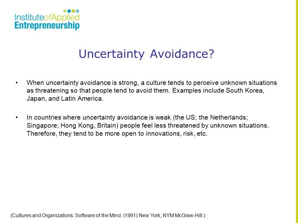 Uncertainty Avoidance.