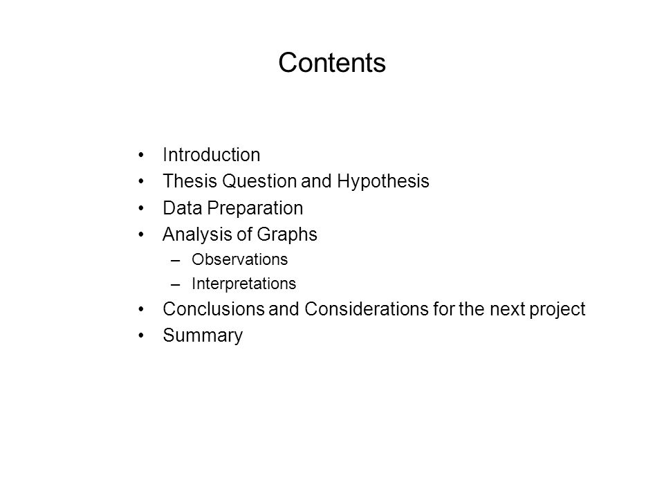 thesis introduction contents