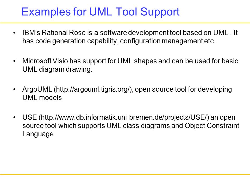 examples for uml tool support ibms rational rose is a software development tool based on uml - Use Case Tools Open Source