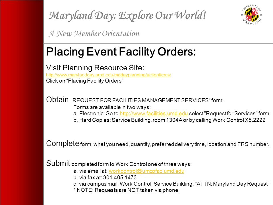 Maryland Day: Explore Our World.