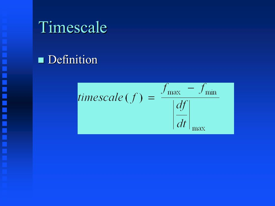 Timescale Definition Definition