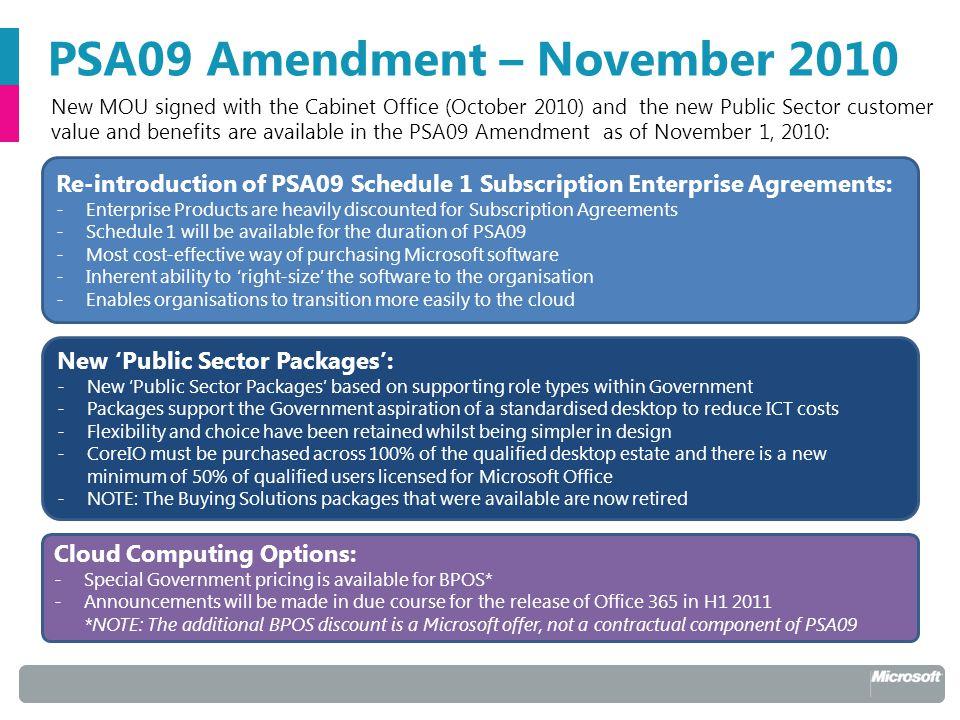 Microsoft public sector agreement psa09 november 2010 amendment microsoft public sector agreement psa09 november 2010 amendment 2 psa09 platinumwayz