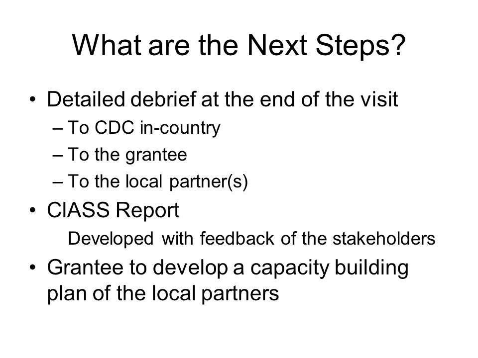 What are the Next Steps.
