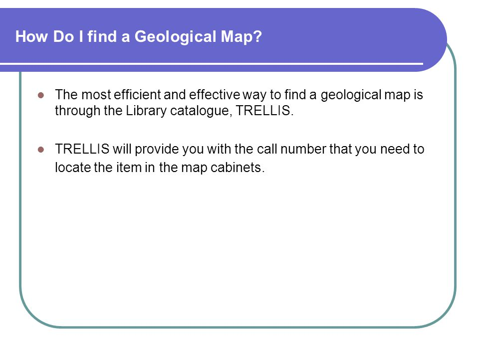 How Do I find a Geological Map.