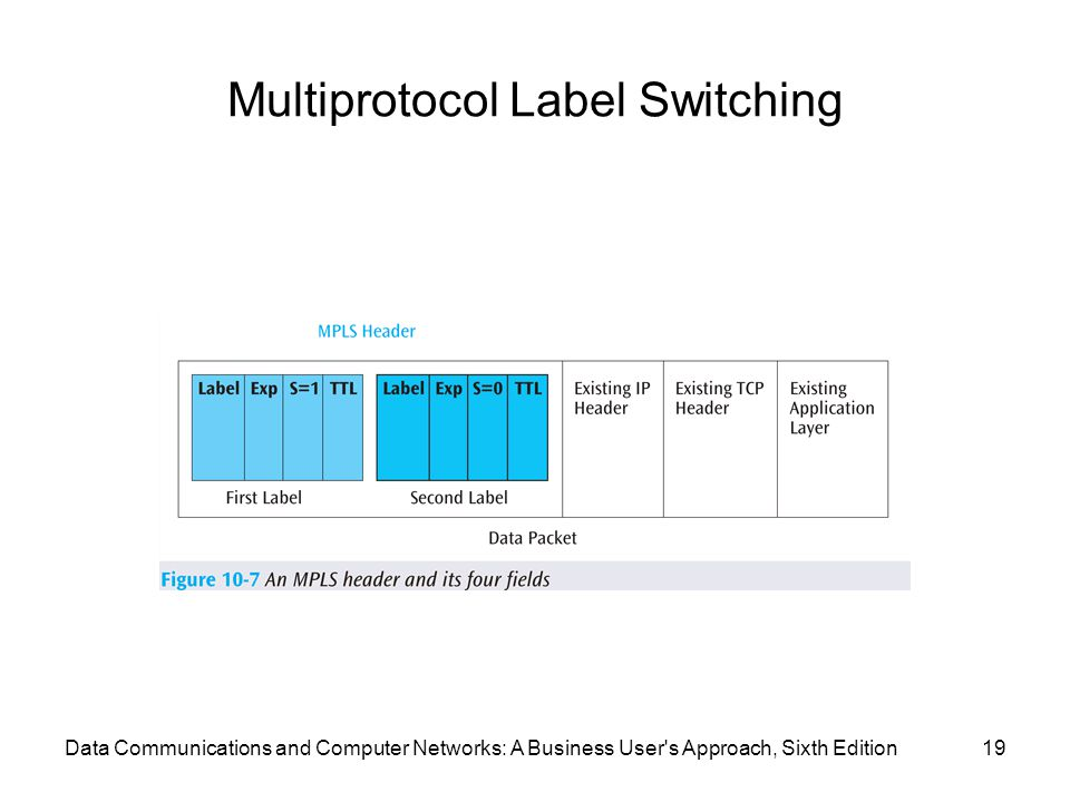 Data Communications and Computer Networks: A Business User s Approach, Sixth Edition19 Multiprotocol Label Switching