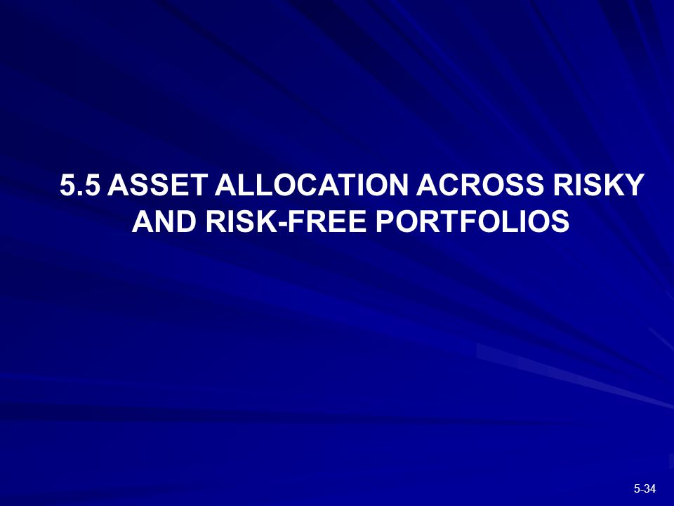 ASSET ALLOCATION ACROSS RISKY AND RISK-FREE PORTFOLIOS