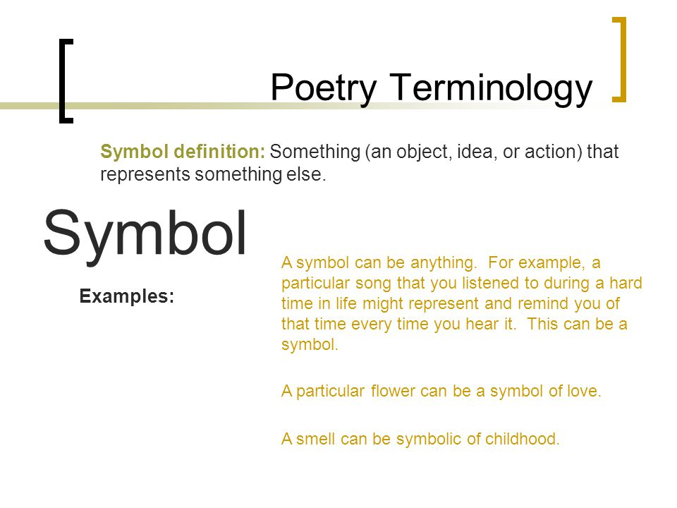 An Example Of Symbol Symbol For Poetry Stock Option Symbols An
