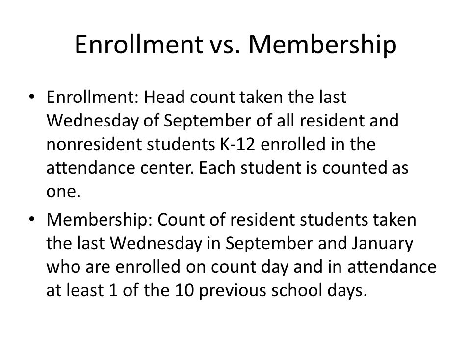 Enrollment vs.