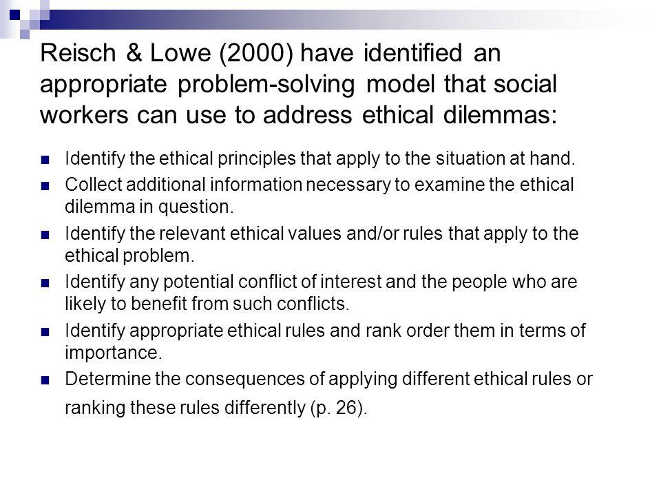 models of ethical problem solving