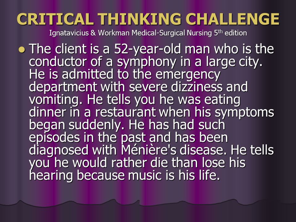 critical thinking old man A 55-year-old man who recently emigrated from asia comes to an urgent care center with a complaint of chest pain he states that for the past few months he has had occasional tightness in his chest that seems to radiate to his left arm.