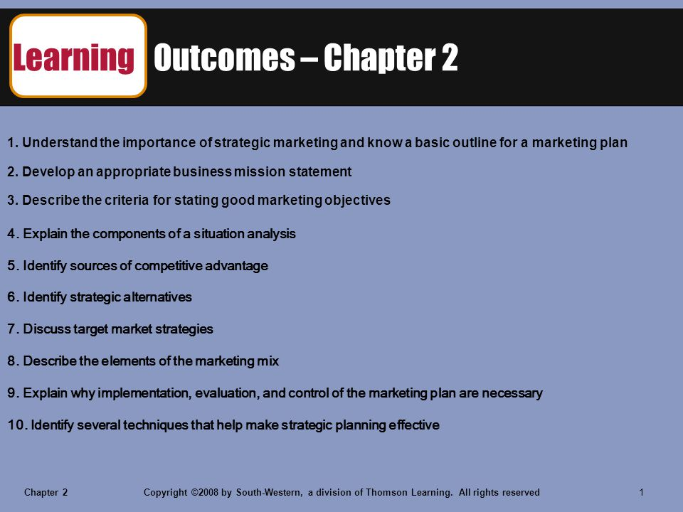 Chapter 2Copyright ©2008 by South-Western, a division of Thomson Learning.
