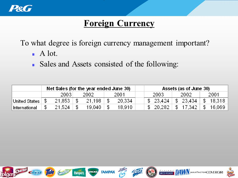 Foreign Currency To what degree is foreign currency management important.