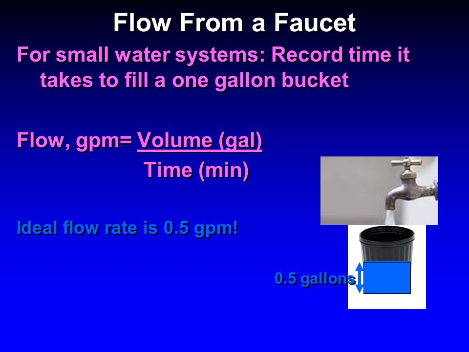Flow From a Faucet, Flushing a Service Line, 90 th Percentile Lead ...