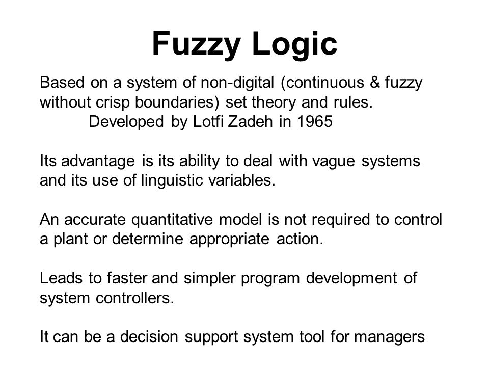 Fuzzy Set Theory Ppt