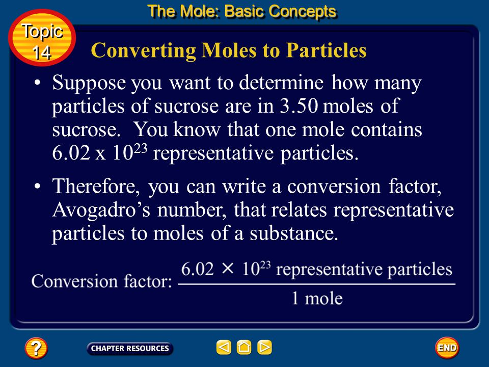 The representative particle in a mole of sodium chloride is the formula unit.