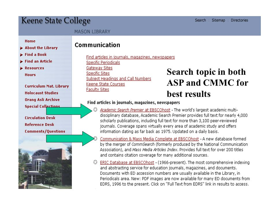 Search topic in both ASP and CMMC for best results