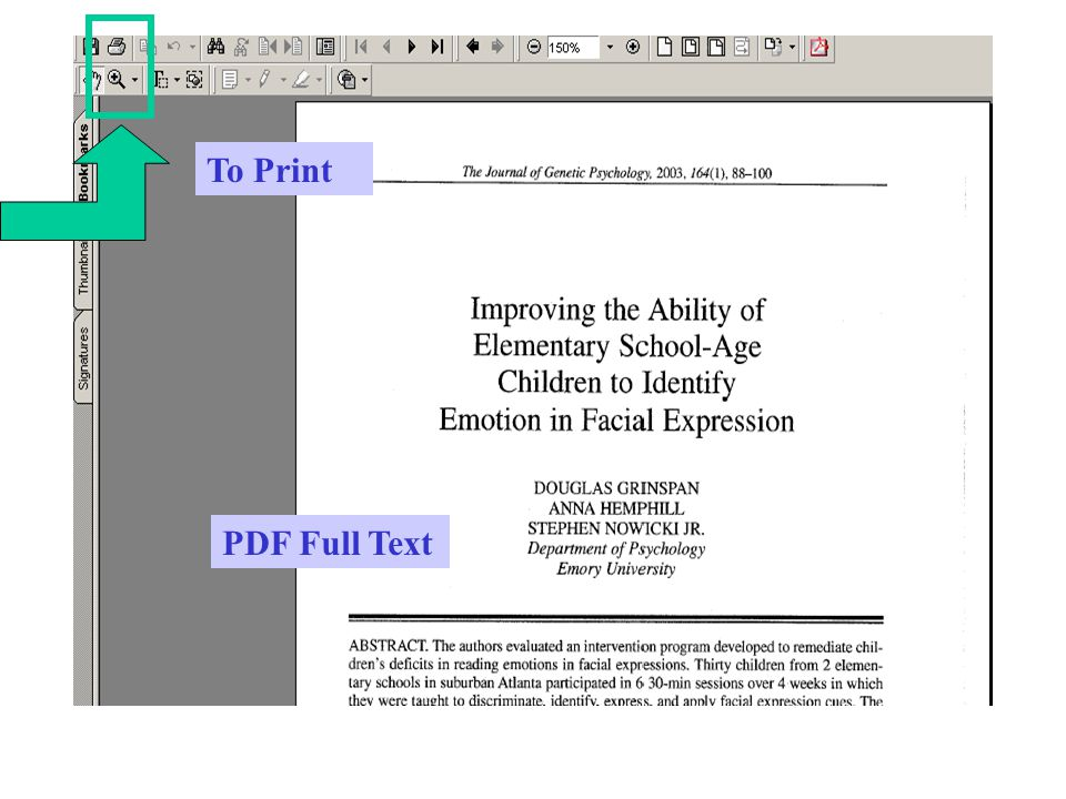 To Print PDF Full Text