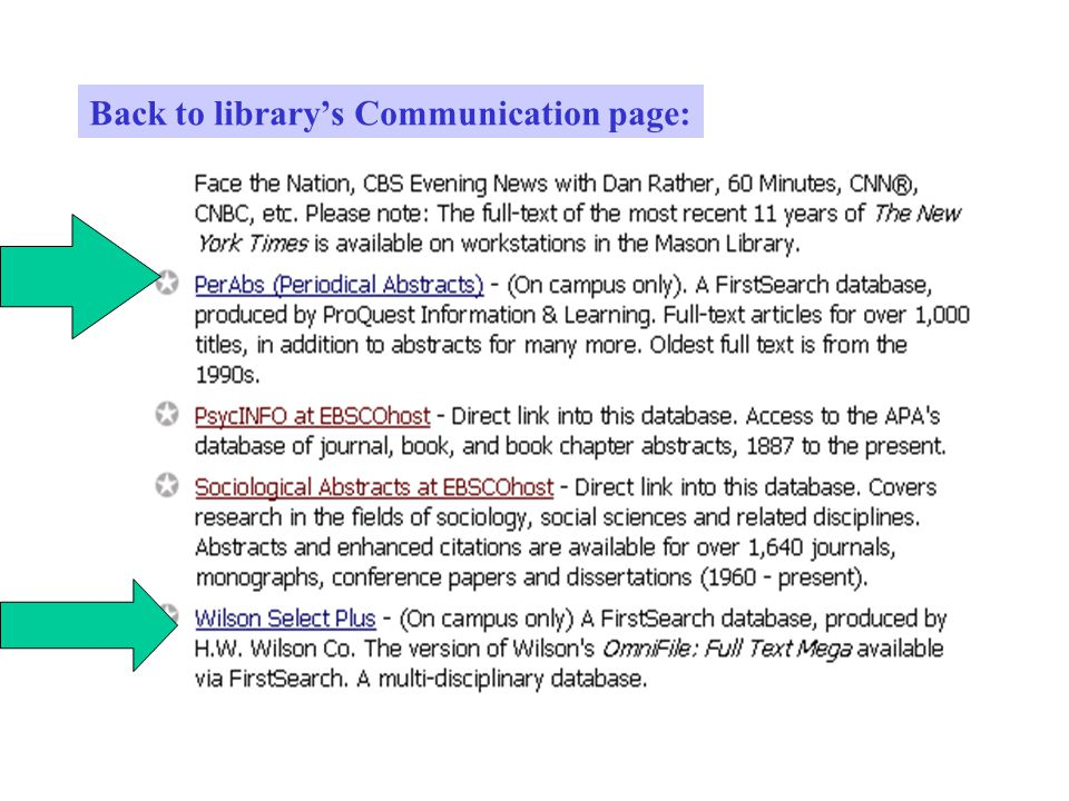 Back to library's Communication page: