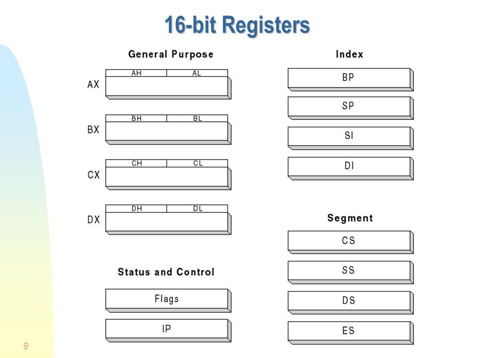9 16-bit Registers
