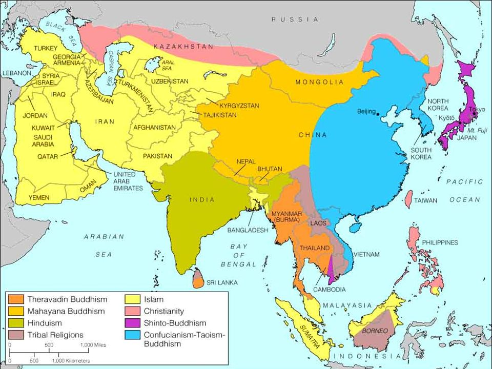 Major Religions Map Of Top Major Religions Map Of Major - List of major world religions
