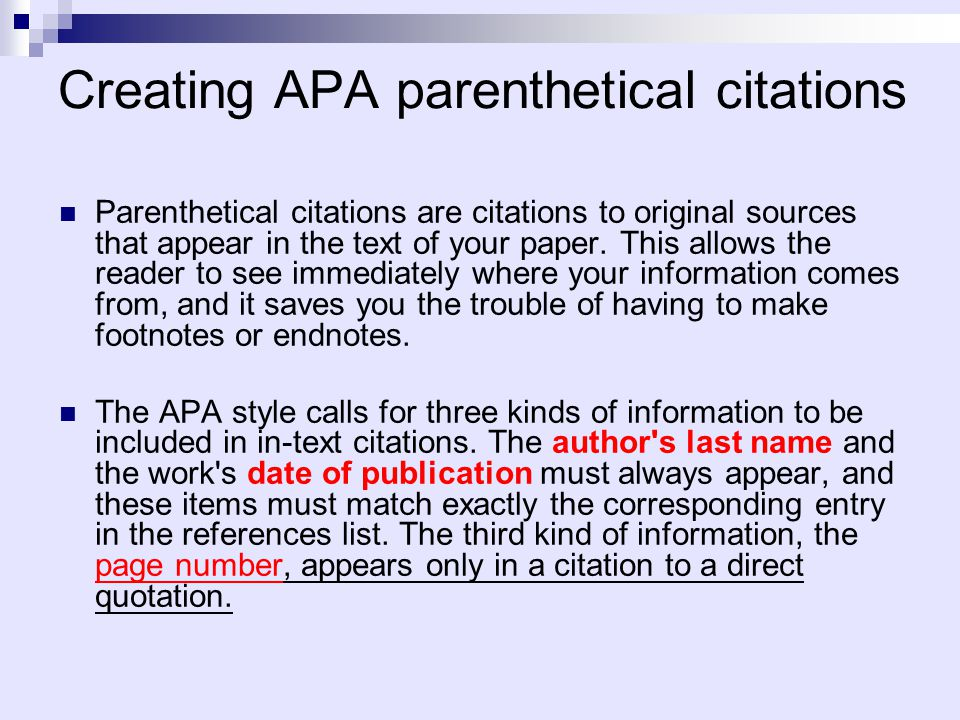 Apa cite within text