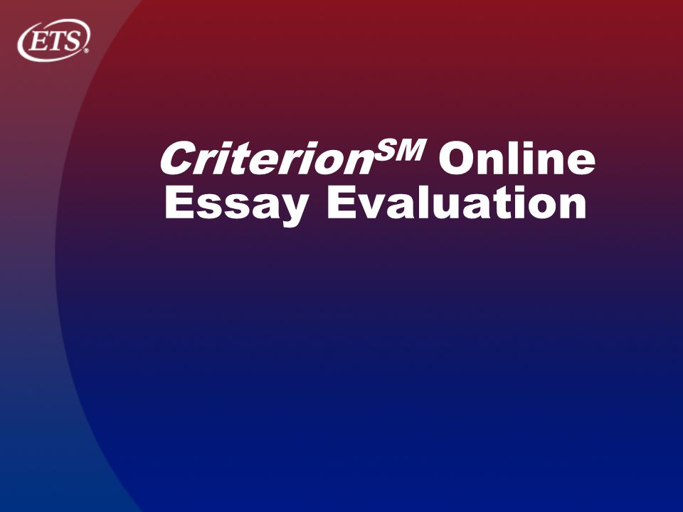 Evaluation Essay Definition