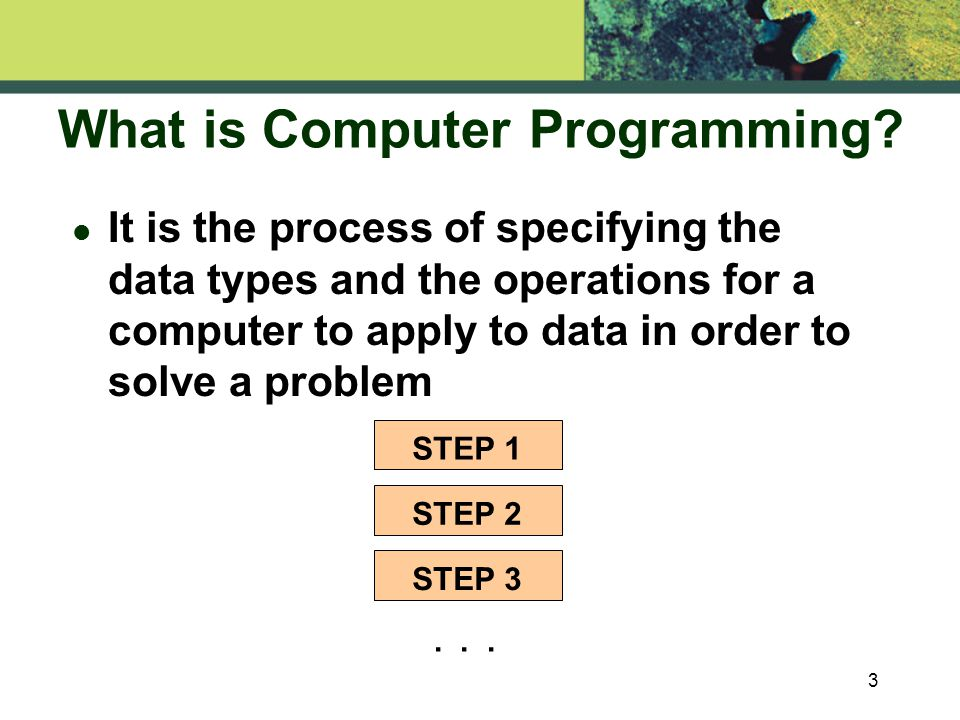 3 What is Computer Programming.