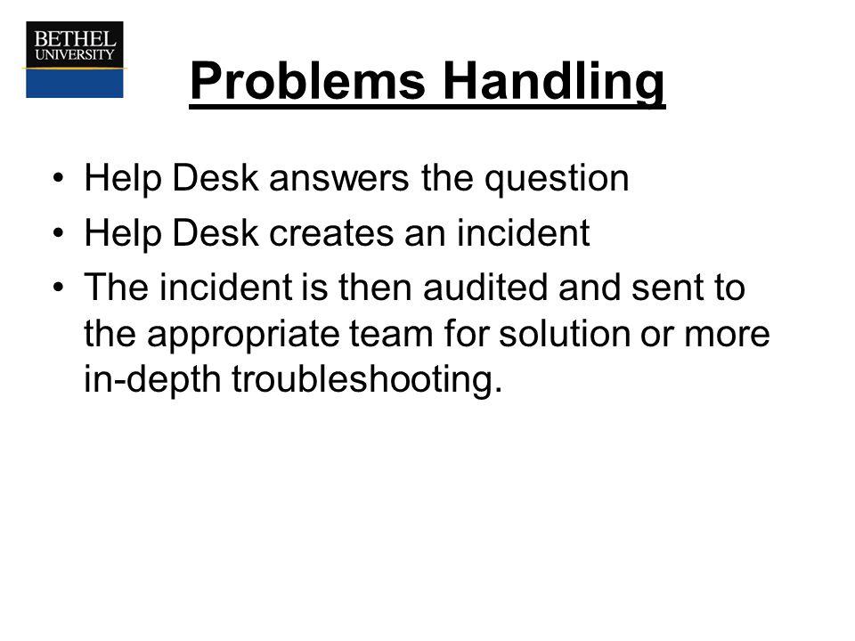 help desk problems