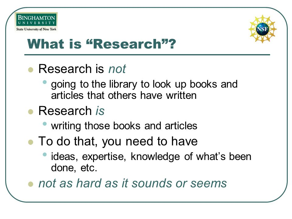 What is Research .